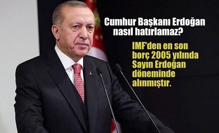 Cumhurbaşkanı  Erdoğan  Bunu nasıl hatırlamaz ?