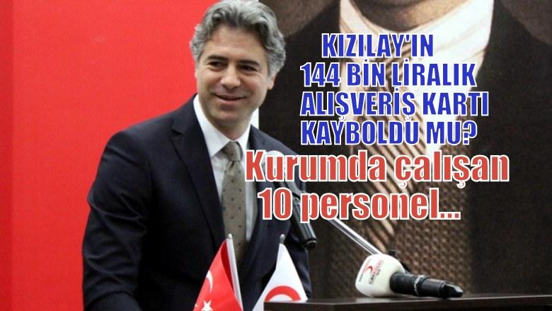Kızılay'ın 144 bin liralık alışveriş kartı kayboldu iddiası
