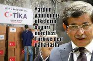 Davutoğlu: Yardım yaptığımız ülkelerin asgari ücretleri Türkiye'den  daha iyi!