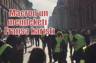 Fransa'da 'Sarı Yelekliler' yeniden sokakta!