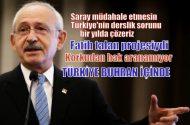 Kılıçdaroğlu: Her şeyi saraydaki biliyor. Türkiye buhran içinde