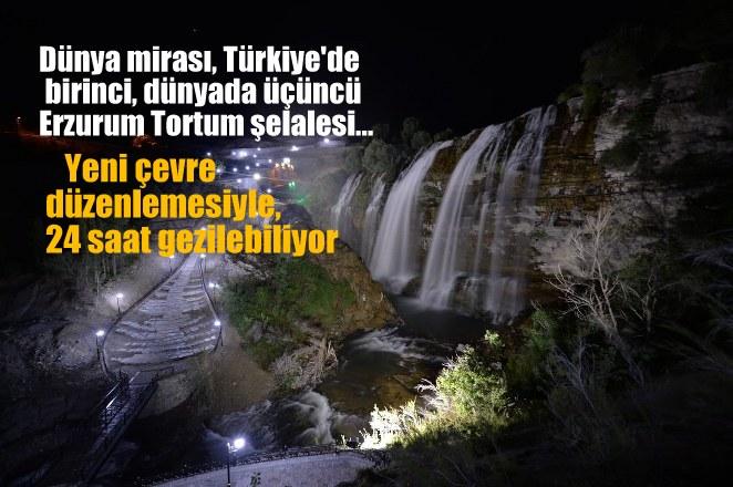 Türkiye'de birinci,  dünyada üçüncü Tortum  şelalesi…
