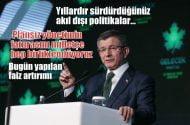 """Davutoğlu: . Acı ilacı millet değil, hükümet içmeli"""""""