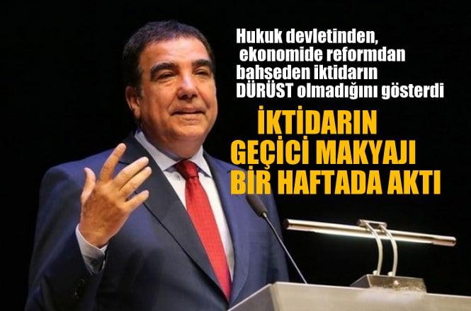 """CHP'li Toprak:  Hukuk devleti, ekonomide  reform seferberliğinden söz eden iktidar, """"dürüst"""" .."""
