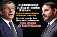 Ahmet Davutoğlu: Berat beyin istifa mektubunda üstü kapalı meydan okuma var