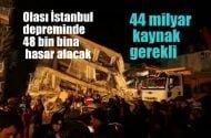 İstanbul Büyükşehir Belediyesi: Olası İstanbul depreminde 48 bin bina ağır hasar alacak