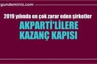 2019 yılında en çok zarar eden şirketler, AKparti'lilere kazanç kapısı