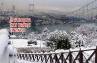 İstanbul'a kar yağışı uyarısı