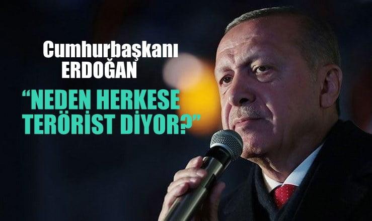 """""""Cumhurbaşkanı Erdoğan, neden herkese terörist diyor?"""""""