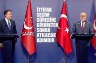 Karamollaoğlu ve Babacan'dan ortak basın açıklaması