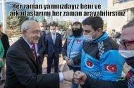 Motokuryelerle görüşenKılıçdaroğlu: Her zaman yanınızdayız Her zaman beni arayabilirsiniz