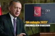 """Saadet Partisi Sözcüsü Aydın:Cumhurbaşkanı Erdoğan'ın """"94 ruhuyla 2023"""" tükenmişliğin ifadesidir"""