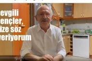 """CHP lideri Kemal Kılıçdaroğlu: """"Sevgili gençler, size söz veriyorum"""""""