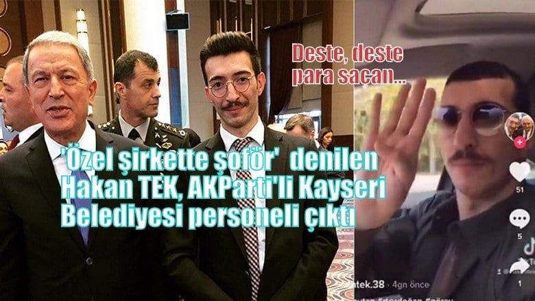 Deste, deste para saçan Tek AKParti'li Kayseri Belediyesi personeli çıktı