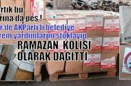 İzmir'de AKParti'li belediye deprem için gelen yardımları stoklayıp ramazan kolisi olarak dağıttı