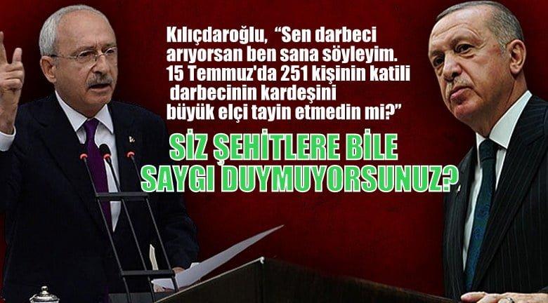 Kılıçdaroğlu'ndan Erdoğan'a 15 Temmuz'da 251 kişinin katili olan darbecinin kardeşini…