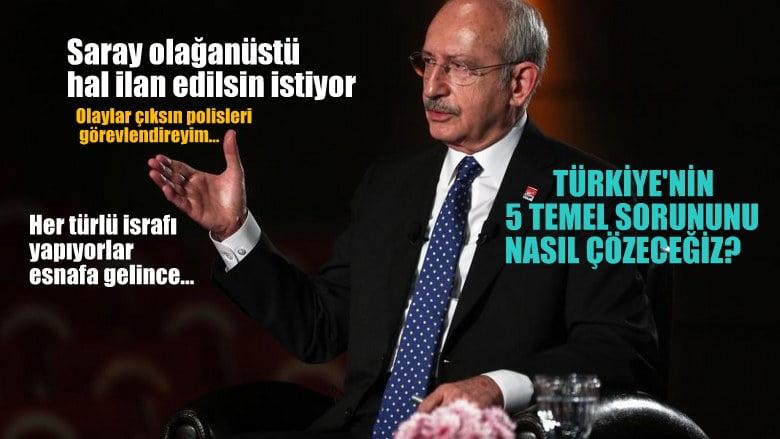 Kılıçdaroğlu: Saray'ın da tam istediği, olaylar çıksın, polisleri görevlendireyim,