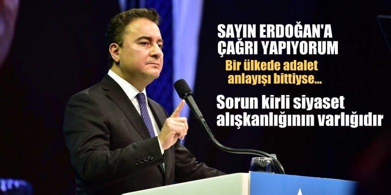 Babacan, Cumhurbaşkanı Erdoğan'a: Derhal siyasal şiddete karşı sağlam bir duruş ortaya koyun