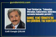 Celil Cengiz ÇOLAK: Sanki, Yeni Türkiye'ye hakaretten sorumlu bakanlık gerekli!…