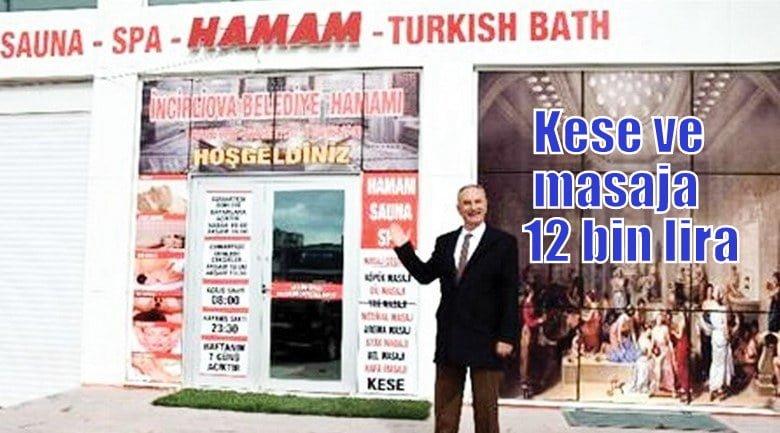 Aydın İncirliova Belediyesi, MHP yönetimindeyken, 12 bin lira kese ve masaj..