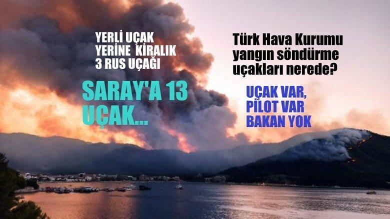 Türk Hava Kurumu yangın söndürme uçakları nerede?