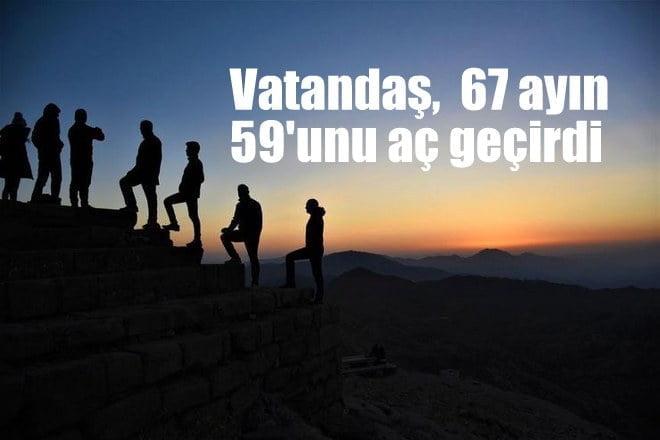 Vatandaş 67 ayın 59'unu aç geçirdi