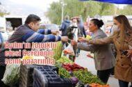 Aydın'ın topuklu efesi Özlem Çerçioğlu semt pazarında…