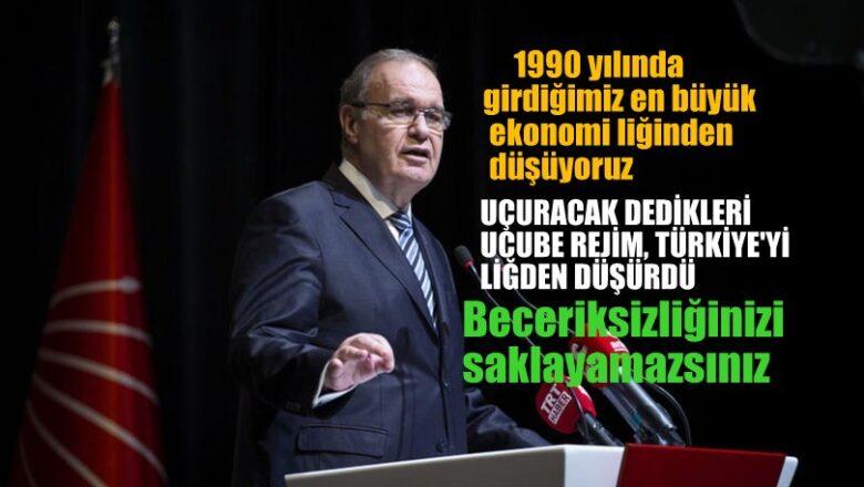 CHP'li Faik Öztrak: 1990'da girdiğimiz en büyük ekonomi liğinden düşüyoruz