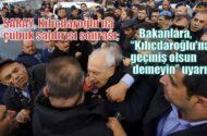 """Saray, Kılıçdaroğlu'na Çubuk saldırısı sonrası,  bakanlara """"Kılıçdaroğlu'na geçmiş olsun demeyin"""" uyarısı"""