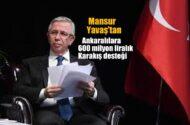 Mansur Yavaş'tan Ankaralılara, 600  milyon liralık Karakış desteği