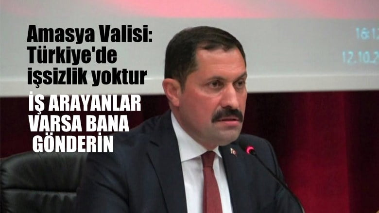 Amasya valisi, Türkiye'de işsiz yok. İş arayan varsa bana gönderin